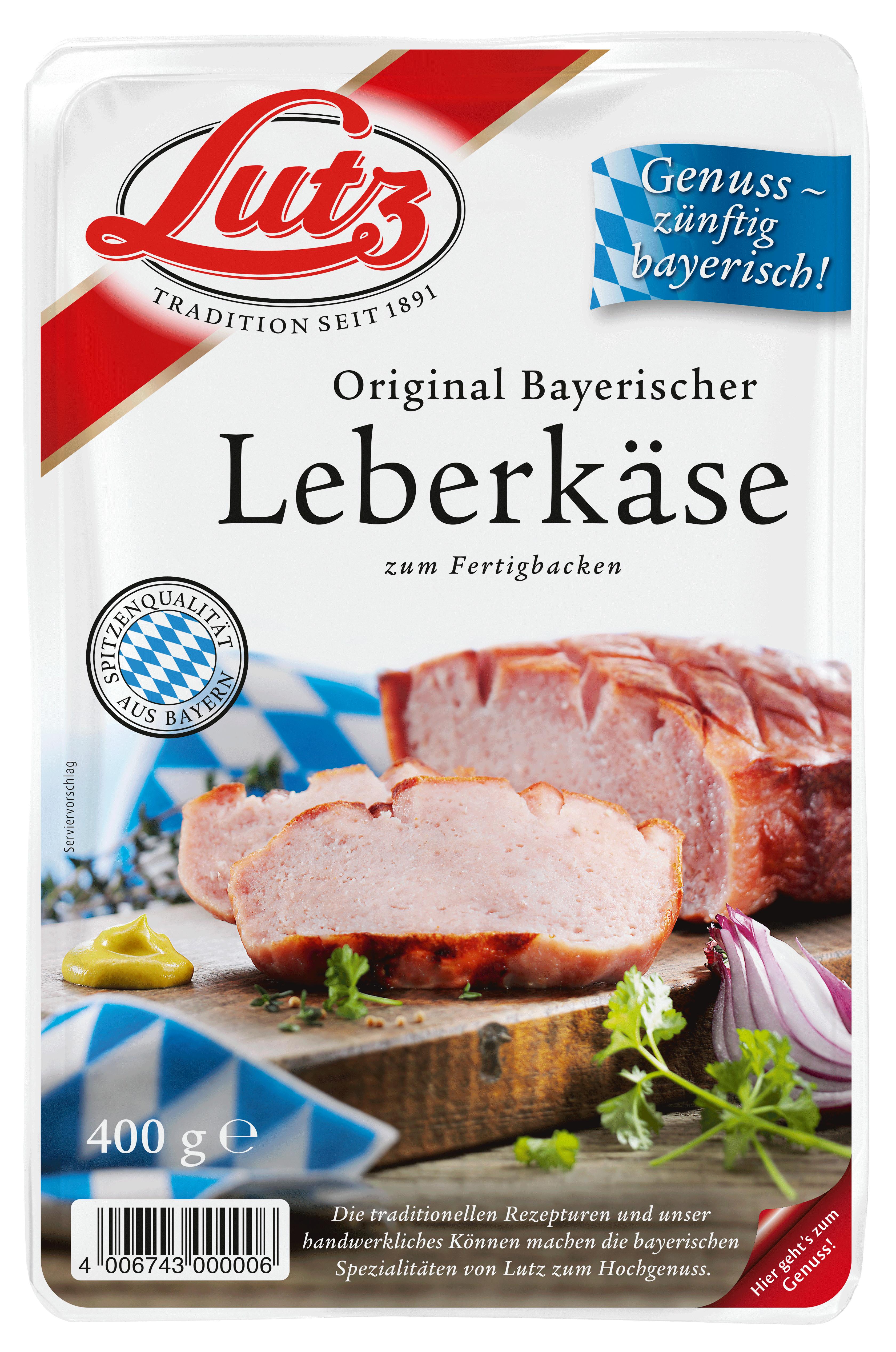 Bayerischer Leberkäse zum Fertigbacken in der Aluschale